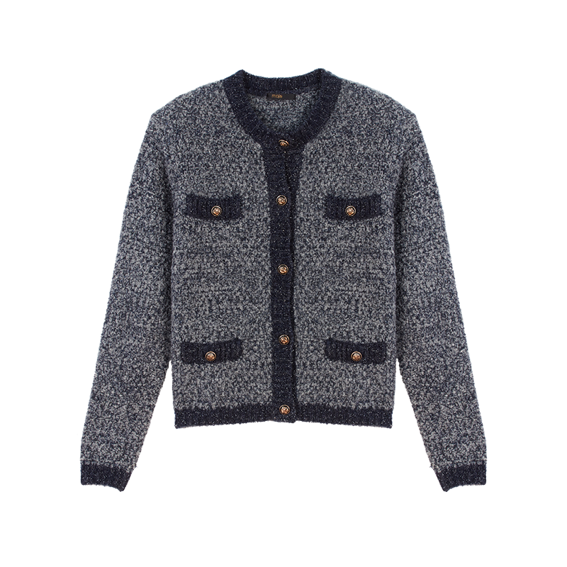 Fancy Lurex knit cardigan - Pullovers & Cardigans - MAJE